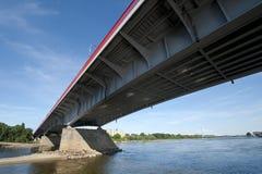 Modern bridge in Warsaw Royalty Free Stock Photo