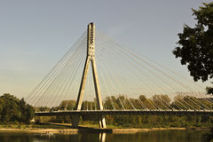 Modern bridge in Warsaw Royalty Free Stock Photos