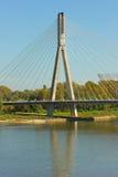 Modern bridge in Warsaw, Poland Royalty Free Stock Images