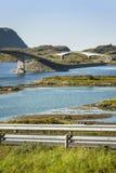 Modern bridges on Lofoten Islands in Norway Stock Photos