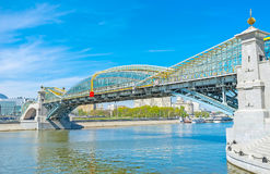 The modern bridges in Moscow Stock Photography