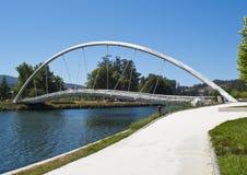 Modern brigde - 1. Modern brigde over Lerez river. Seen in Pontevedra, Spain Royalty Free Stock Image