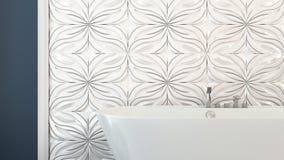 Modern bright bathroom 3D render Royalty Free Stock Photos