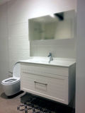 Modern bright bathroom design with a toilet. Stock Images