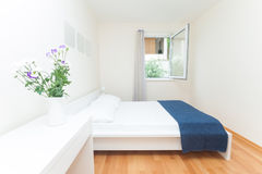 Modern bedroom Stock Photos