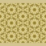 Bright color abstract golden hexagonal geometric pattern, vector seamless. Modern bright color abstract Royalty Free Stock Photos