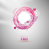 Modern bright color Xmas wreath Stock Images