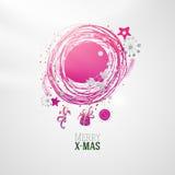Modern bright color Xmas wreath illustration Stock Image