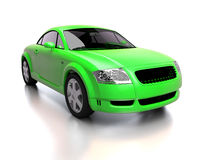 Modern bright green car front view Stock Image