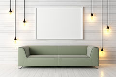 Modern bright interior . 3D render stock illustration