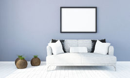 Modern bright interior . 3D render. Bright interior with frame in a modern style . 3D render Stock Photography