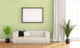 Modern bright interior . 3D render Royalty Free Stock Image