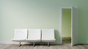 Modern bright interior. 3D render Royalty Free Stock Photo