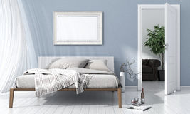 Modern bright interior. 3D render Stock Images