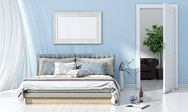 Modern bright interior. 3D render Stock Image