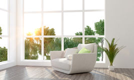 Modern bright interior. 3D render Stock Photo
