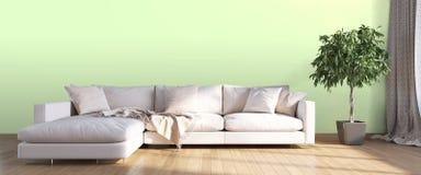 Modern bright interior . 3D render. Bright interior in a modern style . 3D render Stock Image