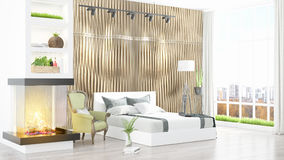 Modern bright interior . 3D rendering Royalty Free Stock Photos