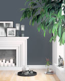 Modern bright interior . 3D rendering. Beautiful living room interior with fireplace. 3D rendering Stock Photos