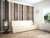 Modern bright interior . 3D rendering Royalty Free Stock Photography