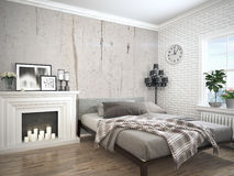 Modern bright interior . 3D rendering Stock Image