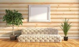 Modern bright interior . 3D rendering Stock Image