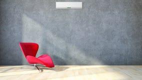 Modern bright interiors apartment 3D rendering illustration Royalty Free Stock Photo