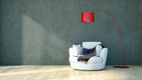 Modern bright interiors apartment 3D rendering illustration Royalty Free Stock Photography