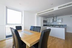 Modern bright kitchen royalty free stock image
