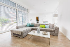 Modern bright living-room Royalty Free Stock Images