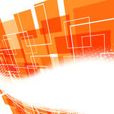 Modern bright orange swoosh background Stock Photo