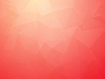 Modern bright red triangular background Stock Photography