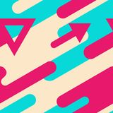 Modern bright seamless pattern with arrows. Vector abstract patt Stock Photography