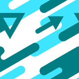 Modern bright seamless pattern with arrows. Vector abstract patt Royalty Free Stock Images
