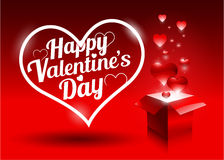 Modern bright valentine's day gift Royalty Free Stock Photography