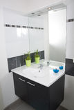 A modern and bright washroom Stock Image
