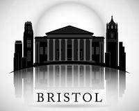 Modern Bristol City Skyline Design. England Royalty Free Stock Photos