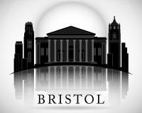 Modern Bristol City Skyline Design. England Royalty Free Stock Photos