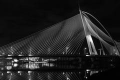 Modern broarkitektur - Jambatan Seri Wawasan Arkivfoto