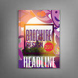 Modern brochure abstract design with flat blots. Royalty Free Stock Photography