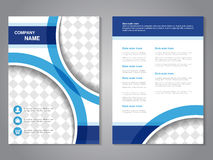 Modern brochure, abstract flyer, simple design with parts of circles for your photos or images. Layout template. Aspect Ratio for vector illustration