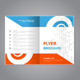 Modern brochure, abstract flyer with simple dotted design. Layout template with snail element. Aspect Ratio for A4 size. Poster of vector illustration
