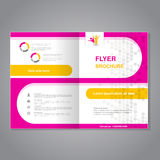 Modern brochure, abstract flyer, simple dotted design with round shapes. Layout template. Aspect Ratio for A4 size. Poster of pink royalty free illustration