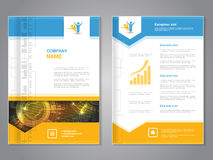 Modern brochure with arrow design, abstract flyer with technology background. Layout template. Aspect Ratio for A4 size. Poster  Royalty Free Stock Image