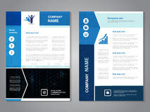 Modern brochure with arrow design, abstract flyer with technology triangle background. Layout template. Aspect Ratio for A4 size. Royalty Free Stock Image