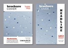 Modern brochure cover design Stock Images