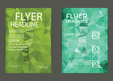 Modern brochure cover and letterhead template low polygon geomet Royalty Free Stock Photos