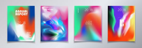 Modern brochure covers set liquid unique gradient. Modern brochure covers set, futuristic design. Abstract Diffuse color smartphone display background. Vector vector illustration