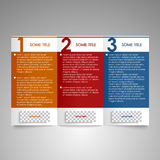 Modern brochure design element