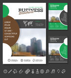 Modern Brochure design template. Annual report layout with photo place. illustration vector in A4 size Stock Photos
